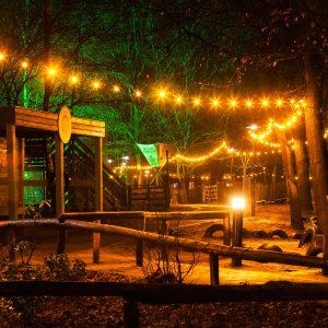 Priklicht op een festival te huur bij romneyloodshuren.nl