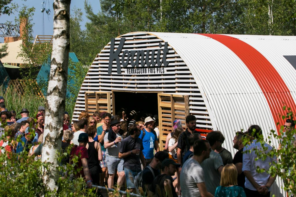 Aanzicht van de romneyloods kopgevel stage 7 op Best Kept Secret 2019